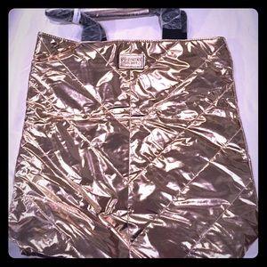 Victoria's Secret Metallic Gold Nylon Tote NWT